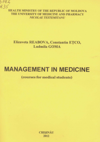 MANAGEMENT IN MEDICINE